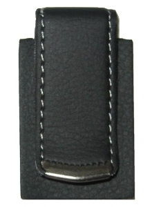 Leather covered metal belt clip (Special Order Only)