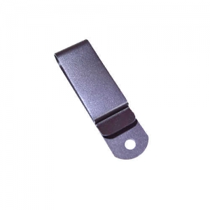 Metal belt extended clip (607EBN), Dark Brown powder coated, Tempered