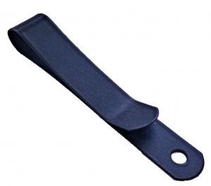 Metal belt clip (495), Black Powder Coated, Tempered Clip