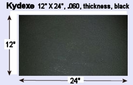 "Kydex 12"" X 24"", 0.060 thickness, black, P1 Haircell Texture"