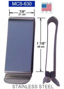 Metal belt clip (630), Stainless Tempered Clip