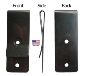 Metal belt clip (631), Stainless Tempered Clip - USA